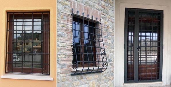 Galleria elleffefabbro - Inferriate porta finestra ...